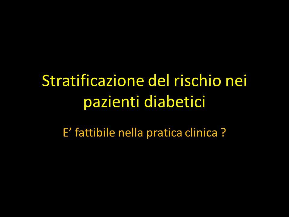 Stratificazione del rischio nei pazienti diabetici