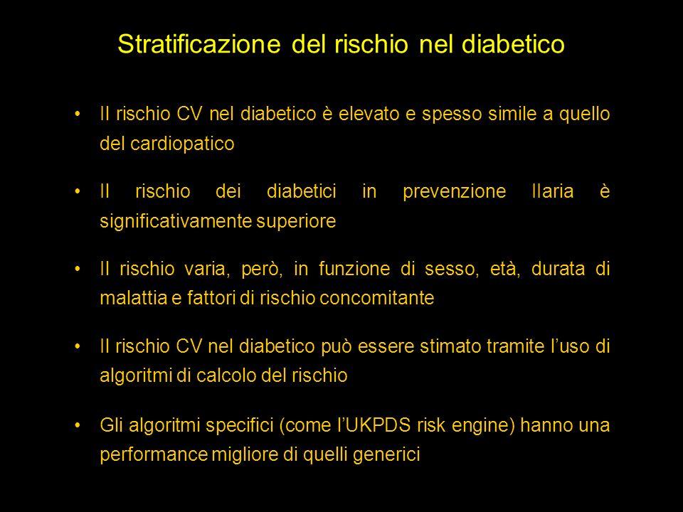 Stratificazione del rischio nel diabetico