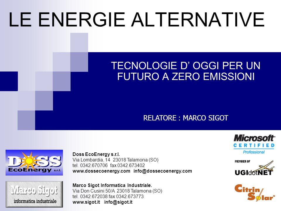 LE ENERGIE ALTERNATIVE