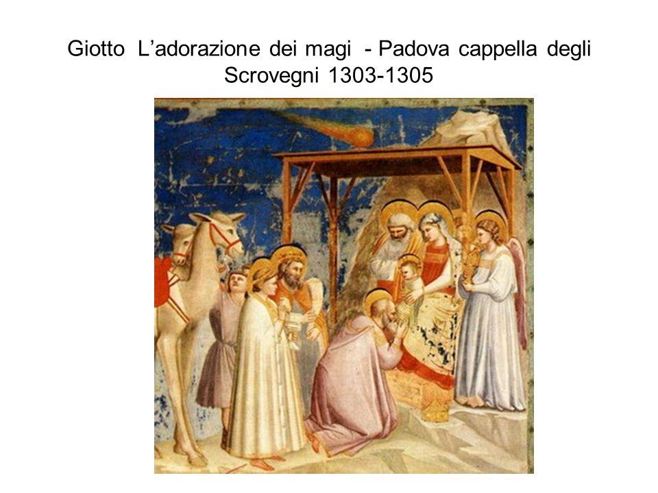 Giotto L'adorazione dei magi - Padova cappella degli Scrovegni 1303-1305