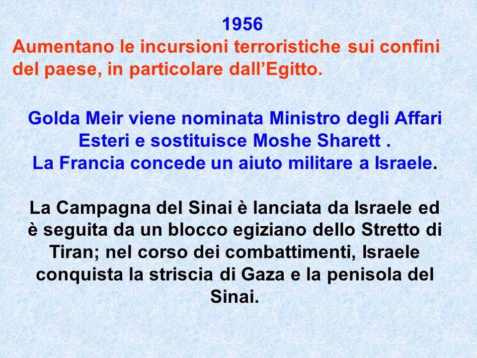 La Francia concede un aiuto militare a Israele.