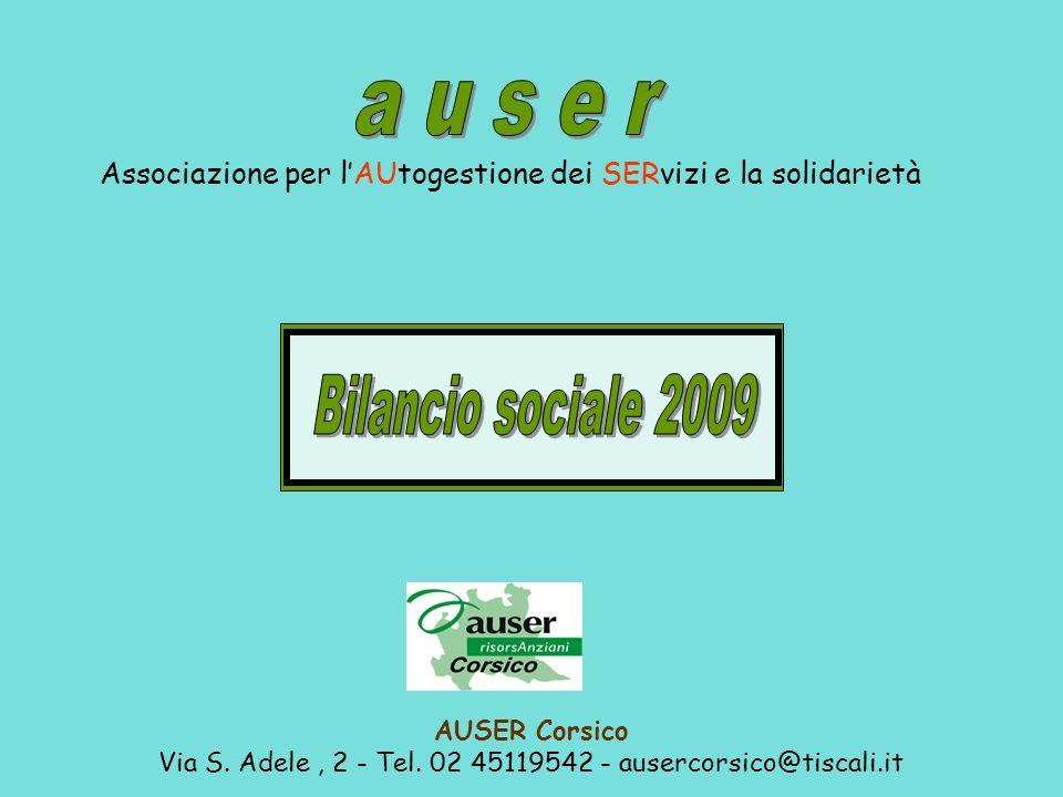 a u s e r Bilancio sociale 2009