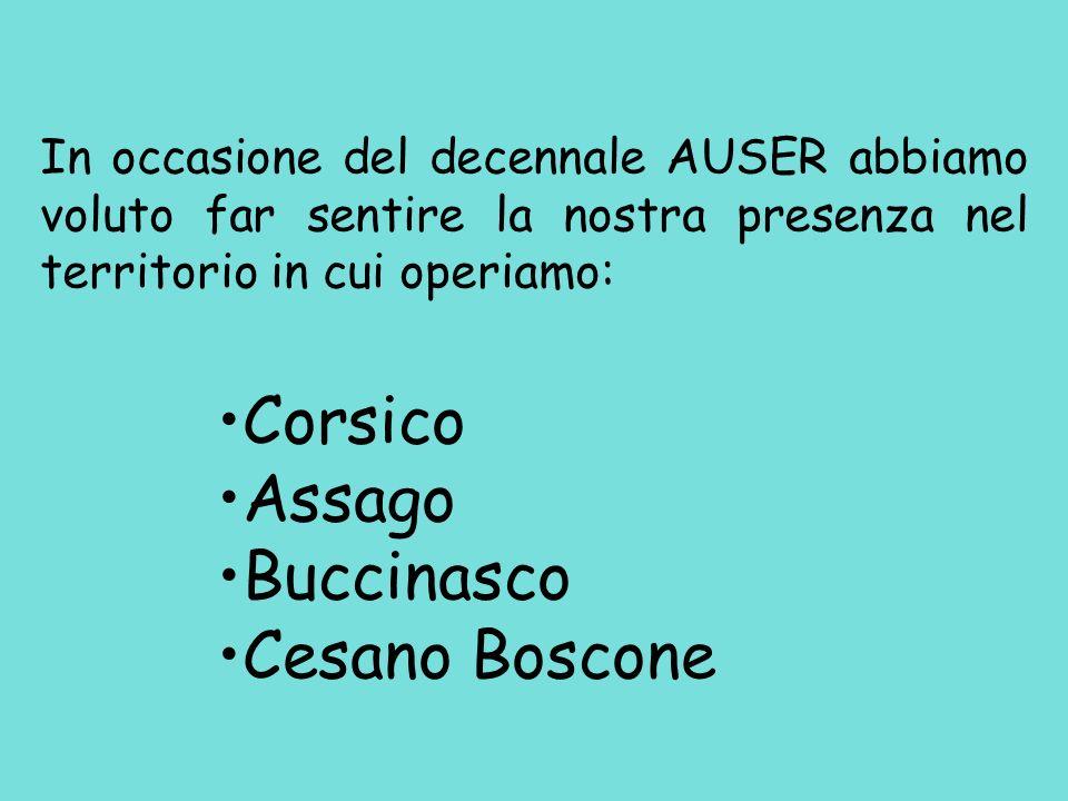 Corsico Assago Buccinasco Cesano Boscone
