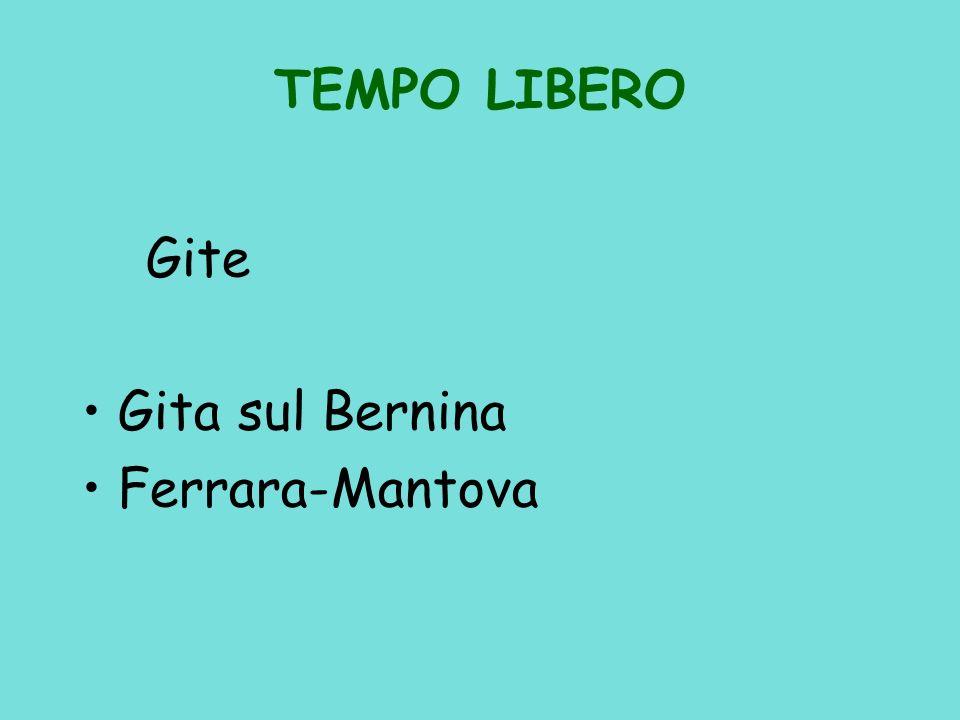 TEMPO LIBERO Gite Gita sul Bernina Ferrara-Mantova