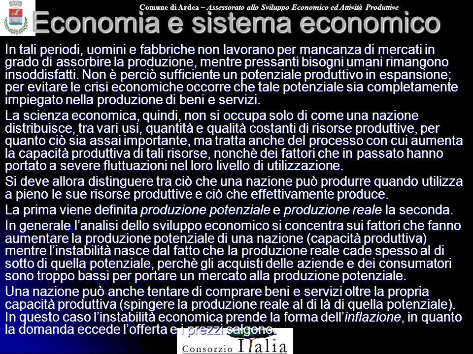 Economia e sistema economico