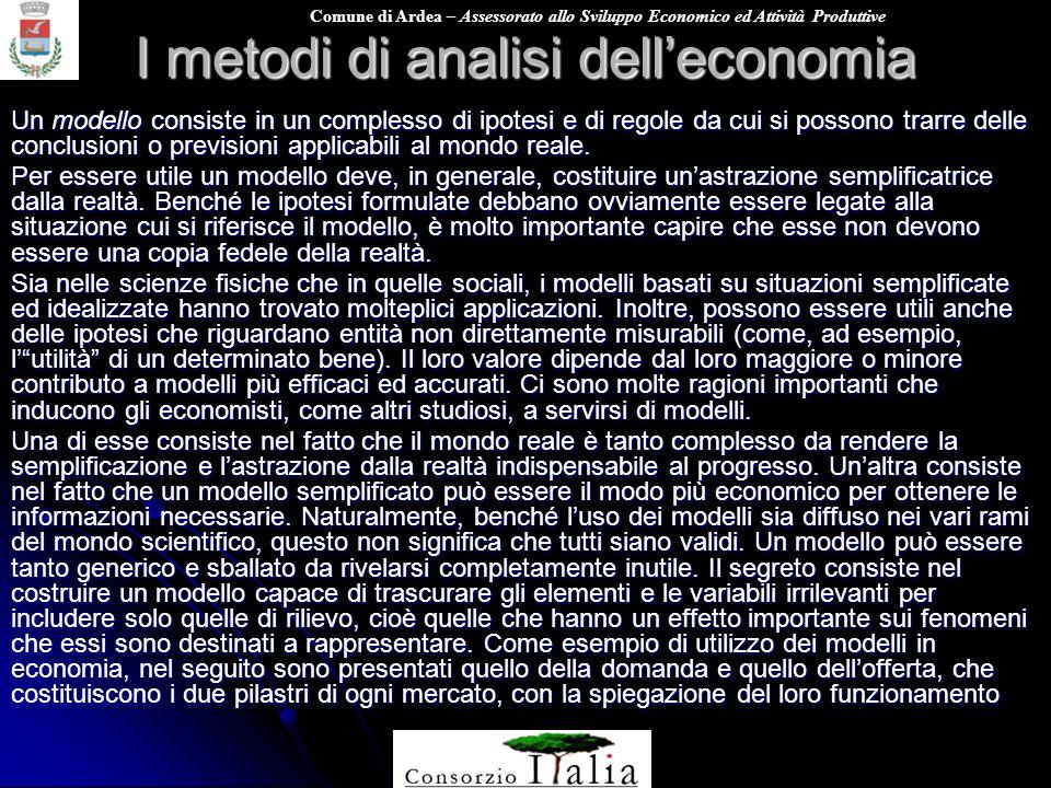 I metodi di analisi dell'economia