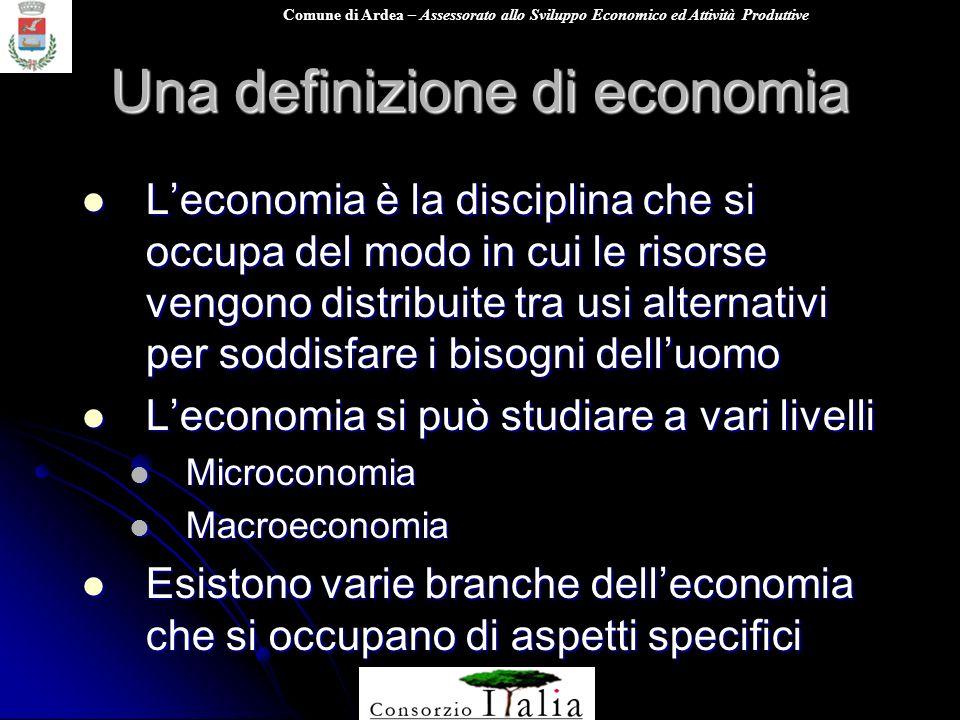 Una definizione di economia