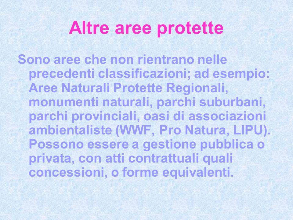 Altre aree protette