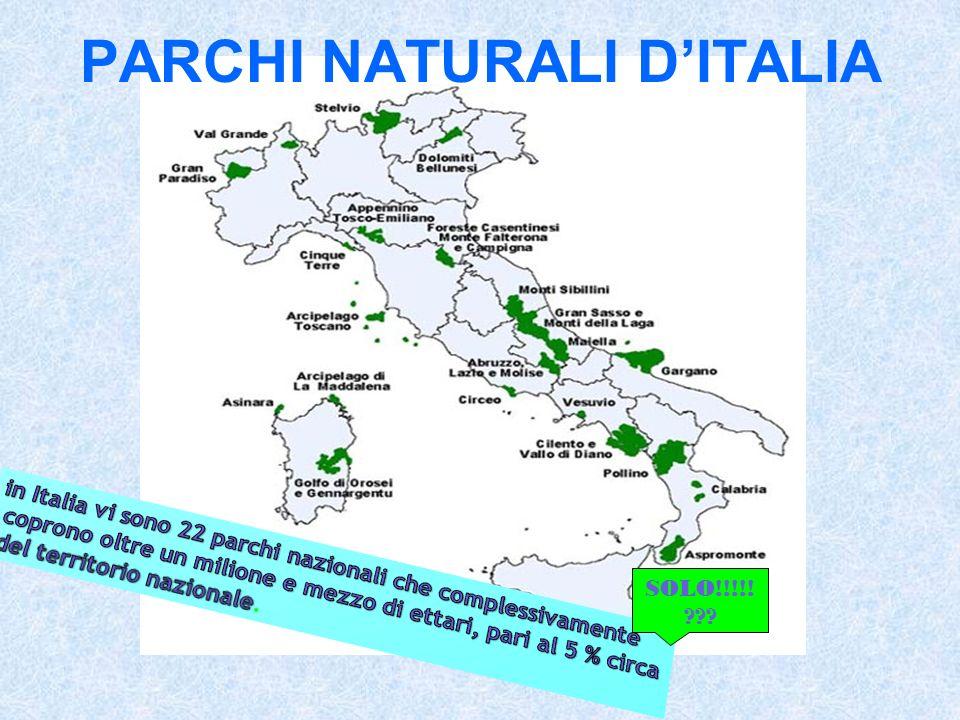 PARCHI NATURALI D'ITALIA