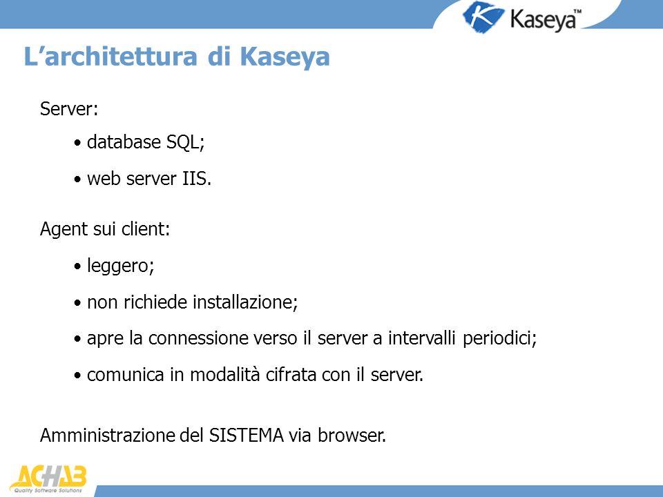 L'architettura di Kaseya