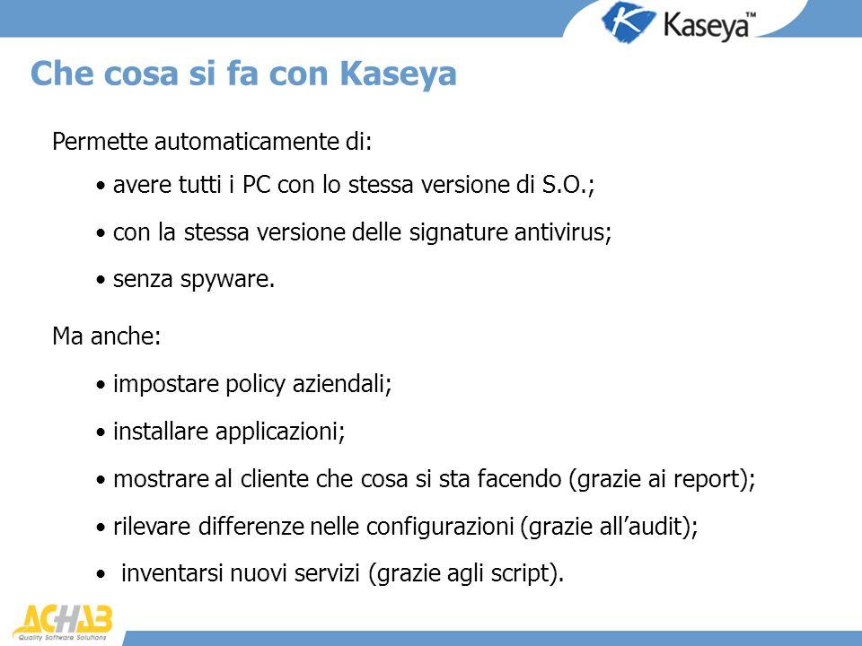 Che cosa si fa con Kaseya