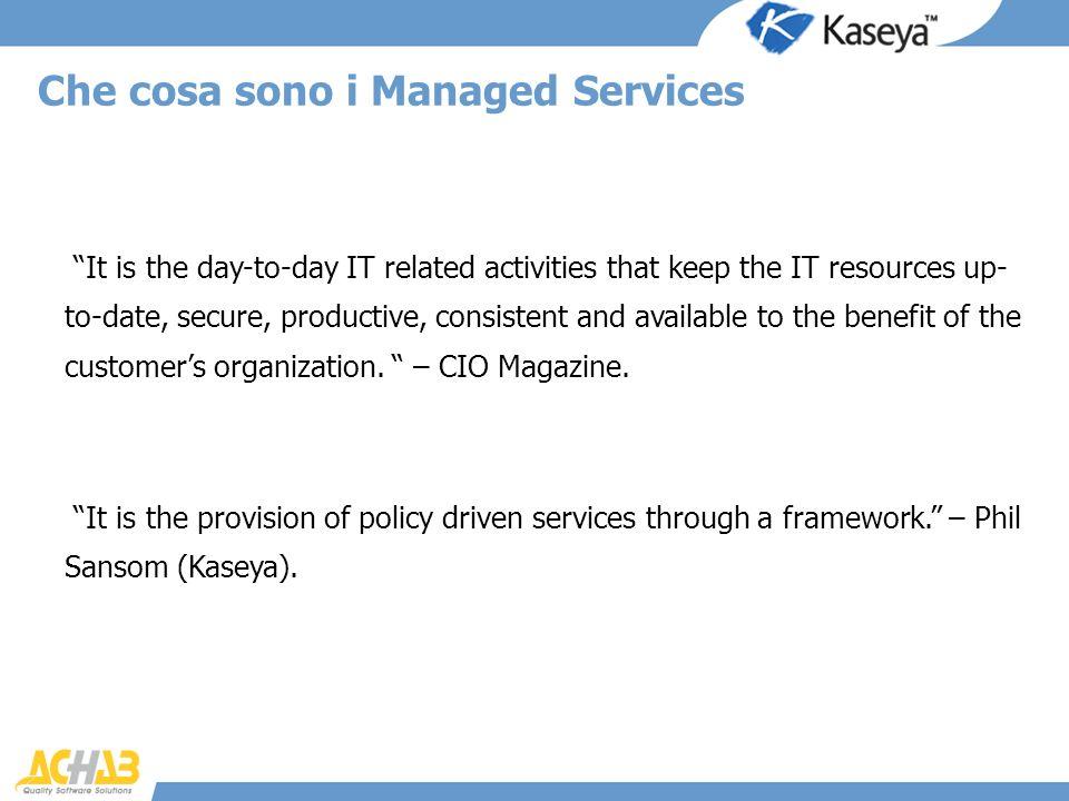 Che cosa sono i Managed Services