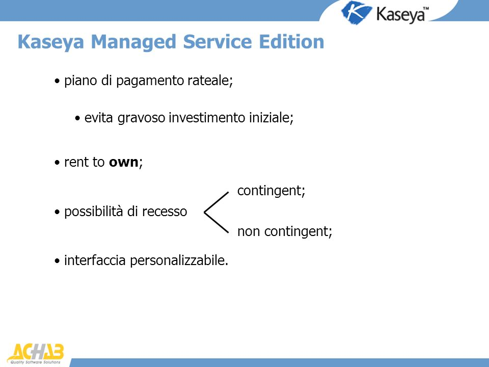 Kaseya Managed Service Edition