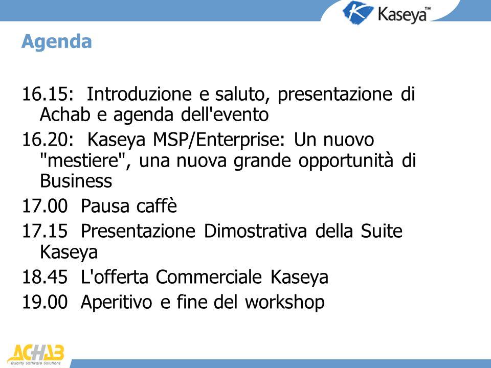17.15 Presentazione Dimostrativa della Suite Kaseya