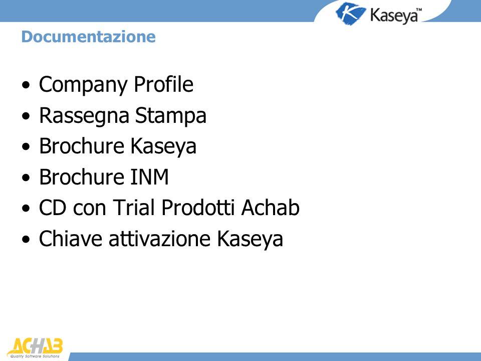 CD con Trial Prodotti Achab Chiave attivazione Kaseya