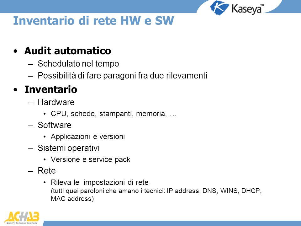 Inventario di rete HW e SW