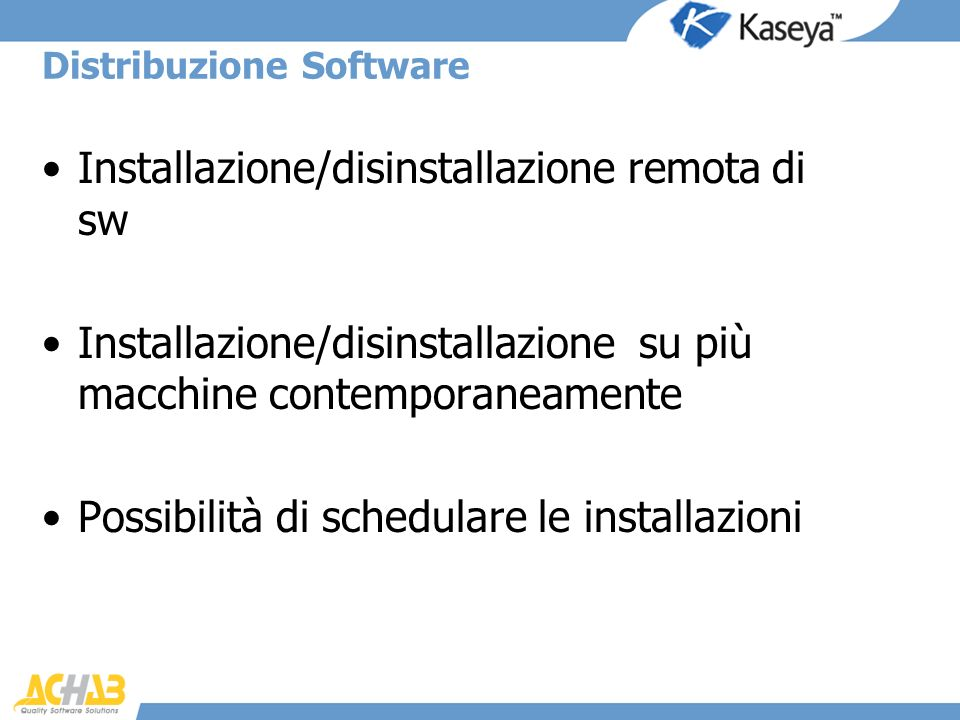 Distribuzione Software
