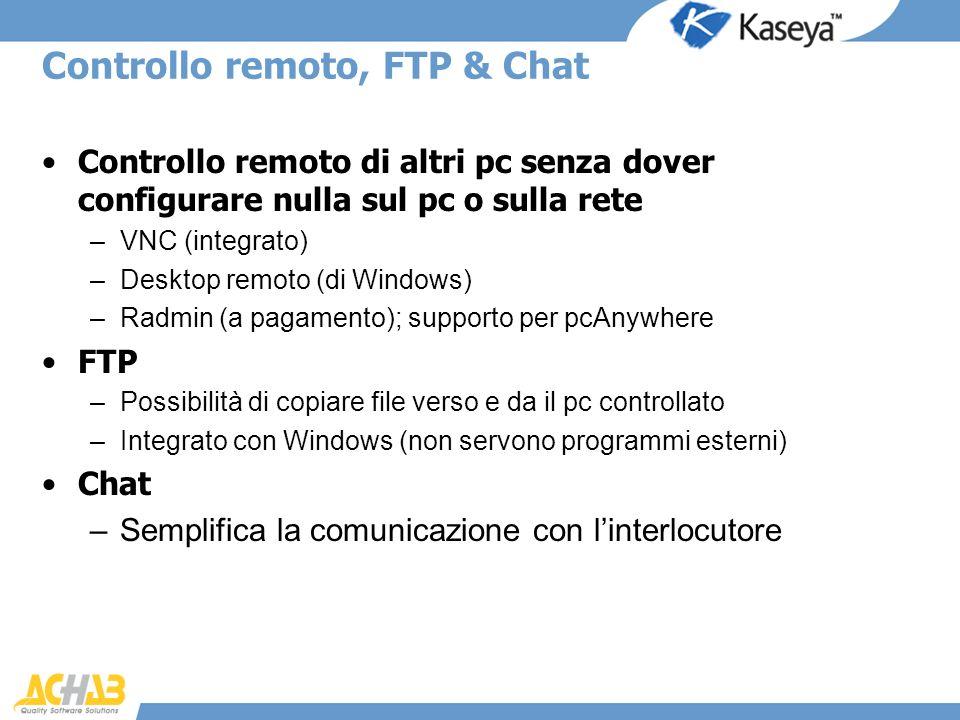 Controllo remoto, FTP & Chat