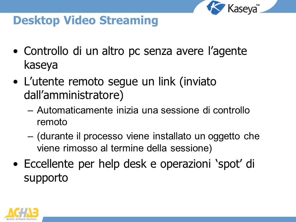 Desktop Video Streaming