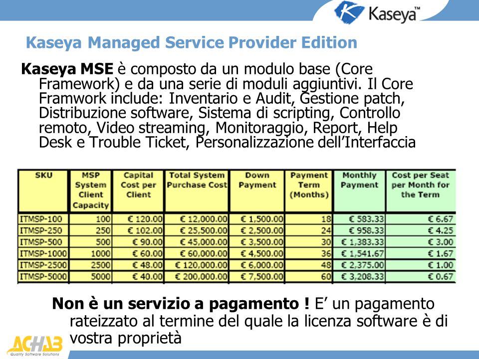 Kaseya Managed Service Provider Edition