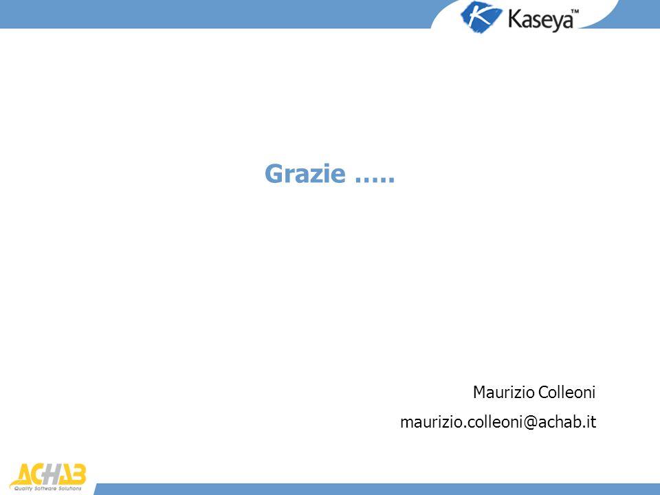 Grazie ….. Maurizio Colleoni maurizio.colleoni@achab.it