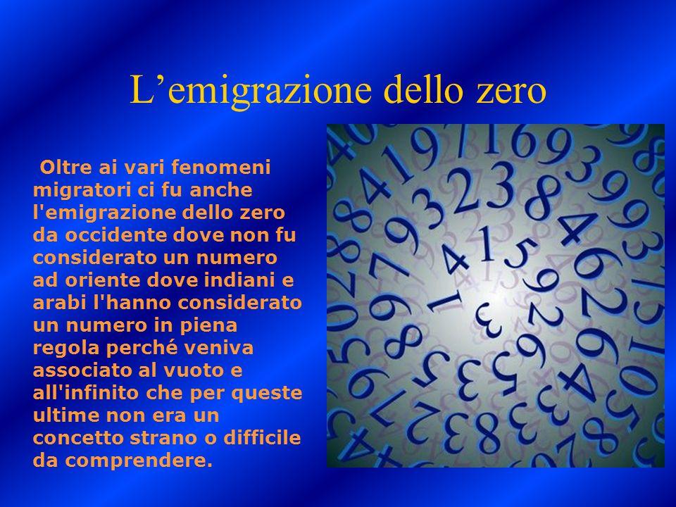 L'emigrazione dello zero
