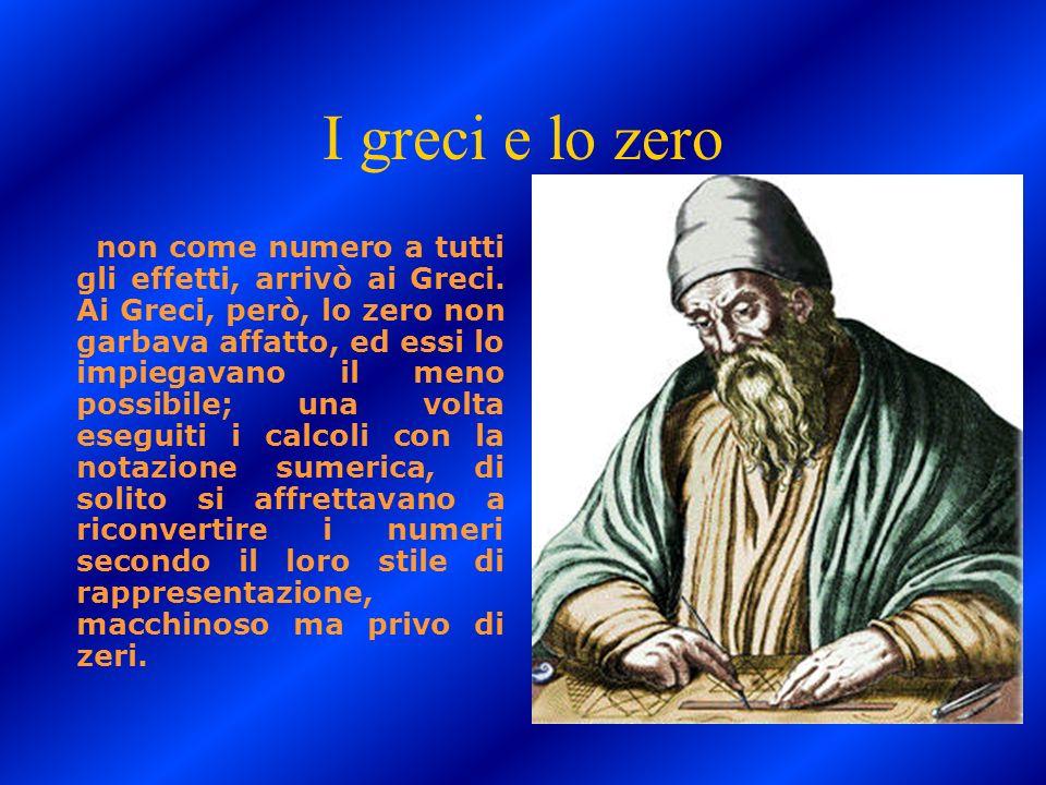 I greci e lo zero