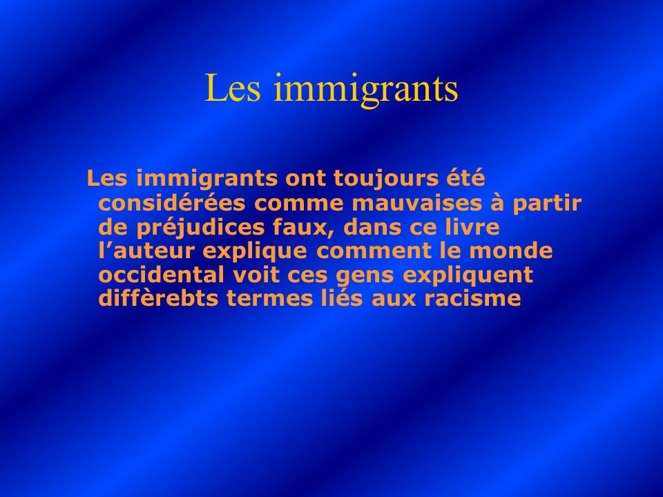 Les immigrants
