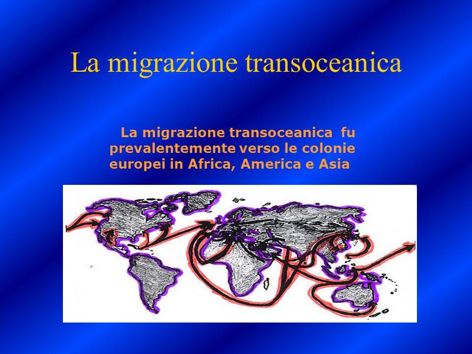 La migrazione transoceanica