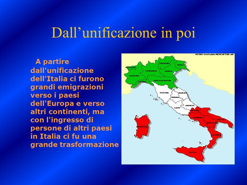 Dall'unificazione in poi