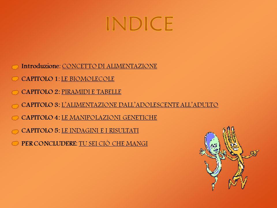 INDICE Introduzione: CONCETTO DI ALIMENTAZIONE