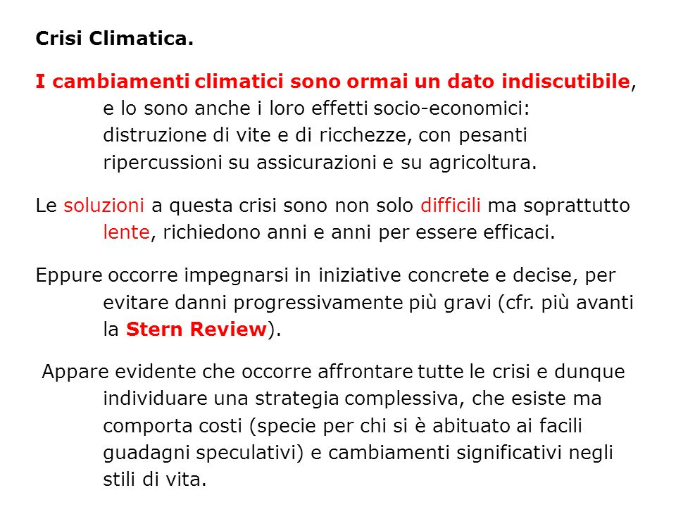 Crisi Climatica.