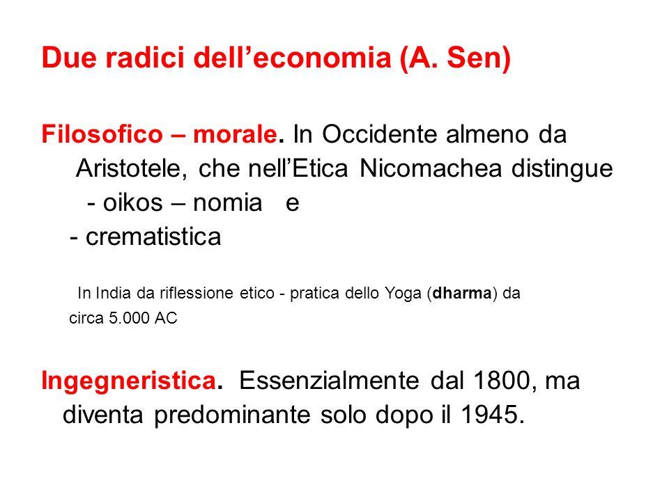 Due radici dell'economia (A. Sen)