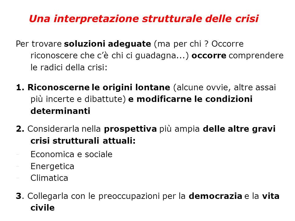 Una interpretazione strutturale delle crisi