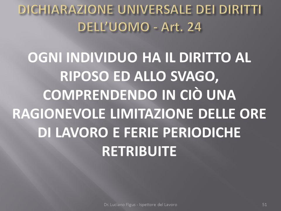 DICHIARAZIONE UNIVERSALE DEI DIRITTI DELL'UOMO - Art. 24