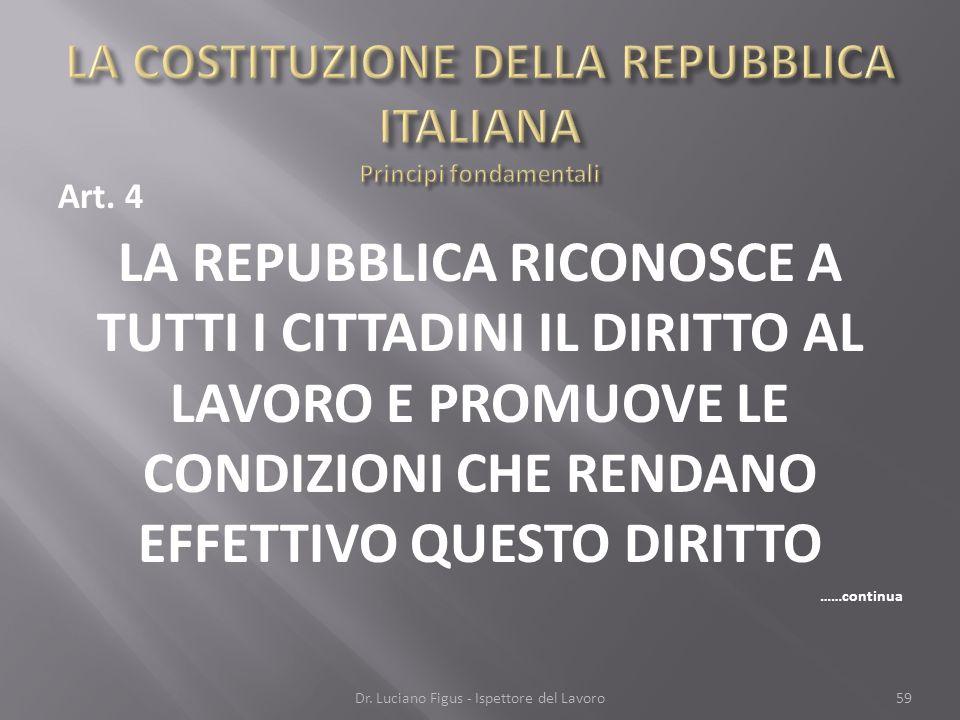LA COSTITUZIONE DELLA REPUBBLICA ITALIANA Principi fondamentali