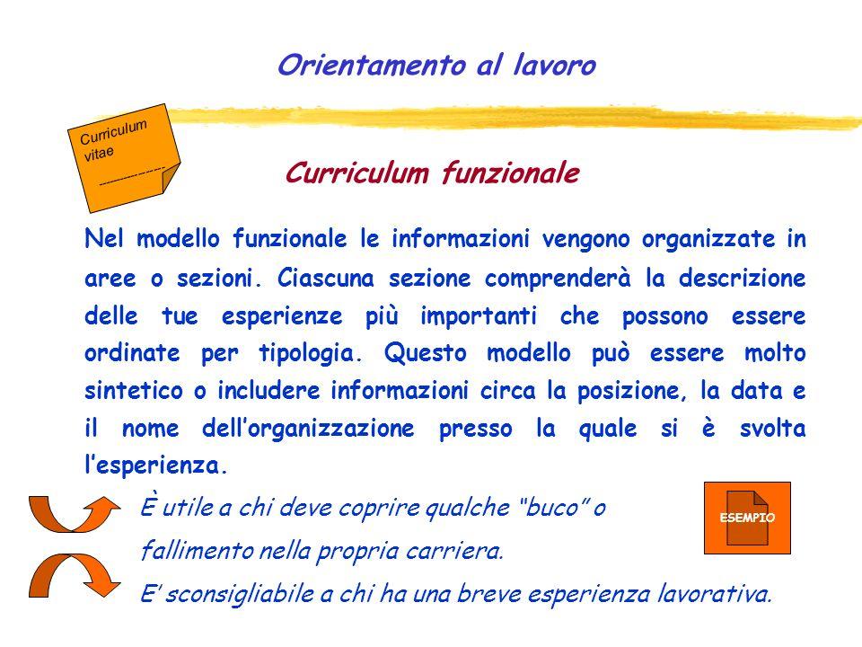 Curriculum funzionale