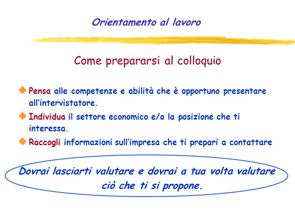 Come prepararsi al colloquio
