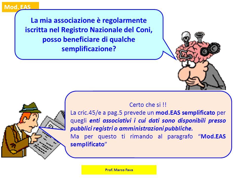 La mia associazione è regolarmente iscritta nel Registro Nazionale del Coni, posso beneficiare di qualche semplificazione