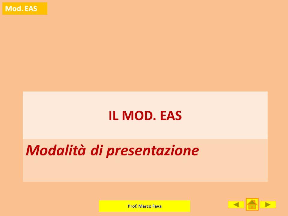 Modalità di presentazione
