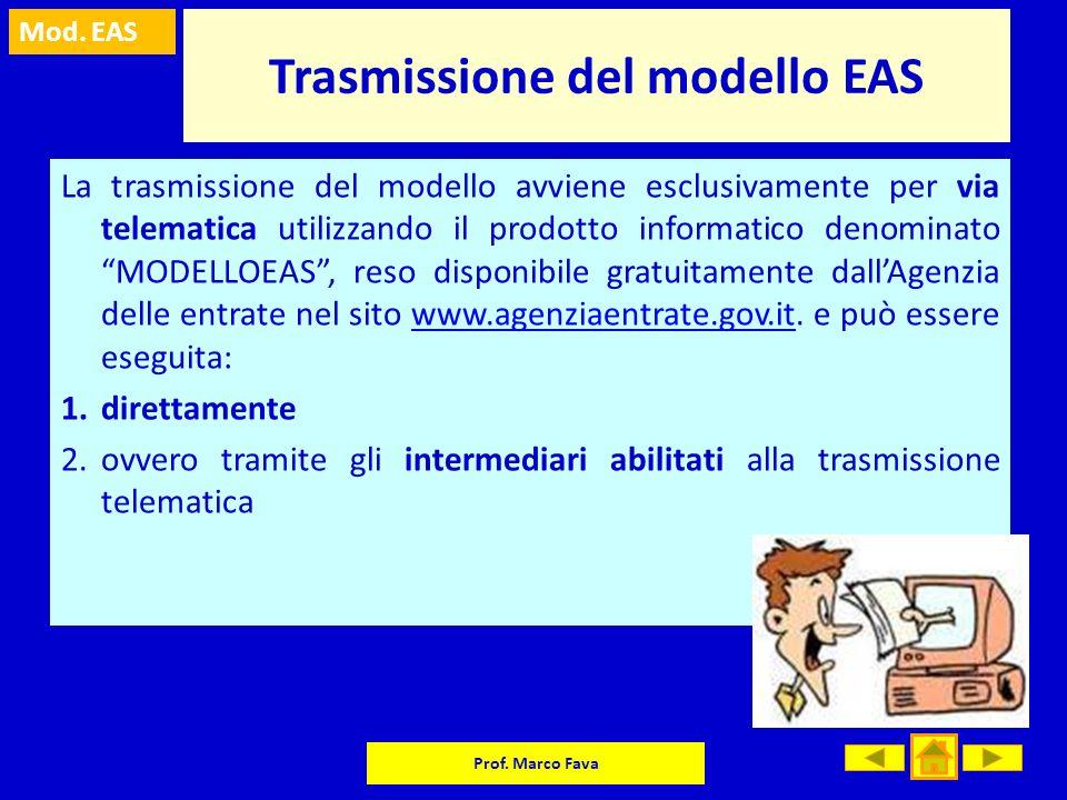 Trasmissione del modello EAS
