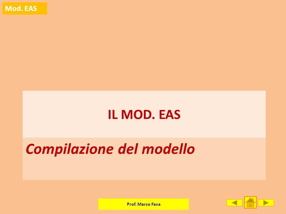 Compilazione del modello