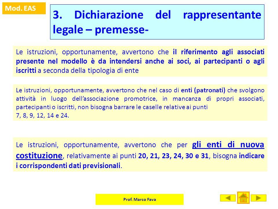 3. Dichiarazione del rappresentante legale – premesse-