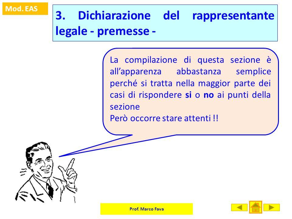 3. Dichiarazione del rappresentante legale - premesse -