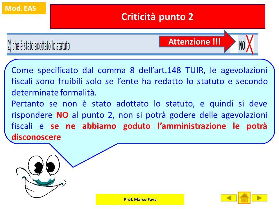 Criticità punto 2 Attenzione !!!