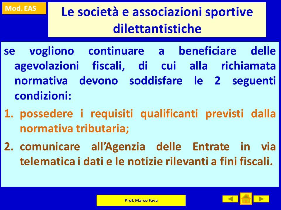 Le società e associazioni sportive dilettantistiche