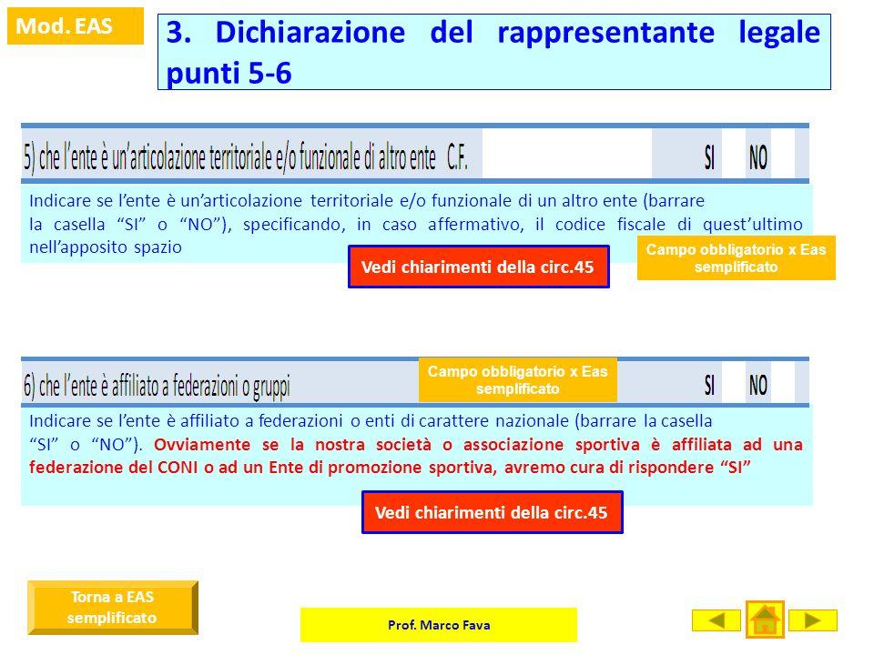 3. Dichiarazione del rappresentante legale punti 5-6