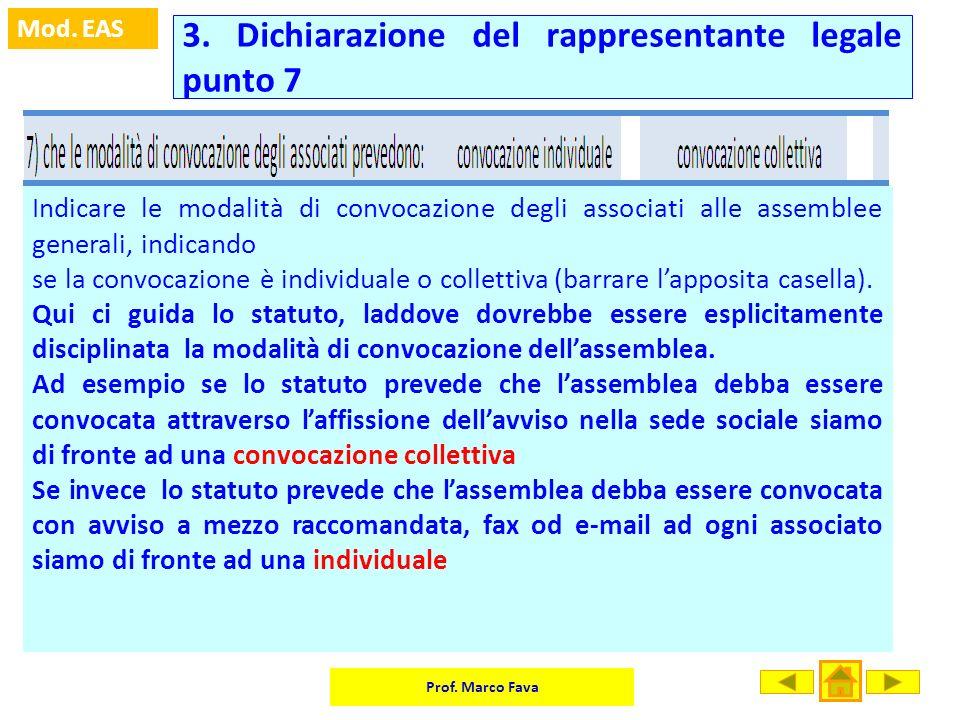 3. Dichiarazione del rappresentante legale punto 7