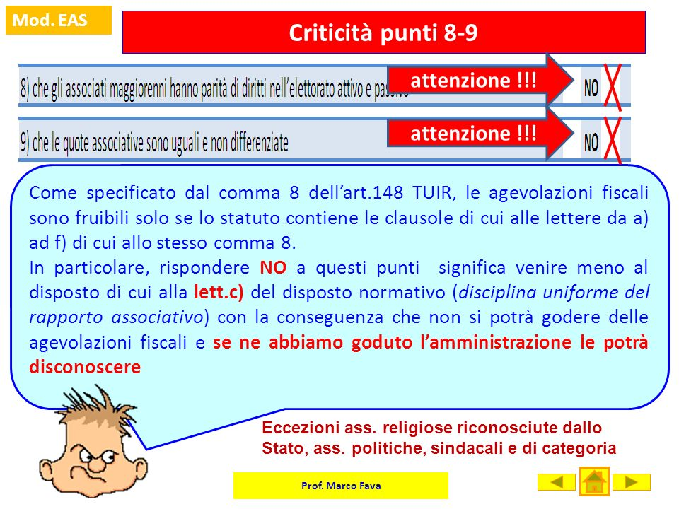 Criticità punti 8-9 attenzione !!! attenzione !!!