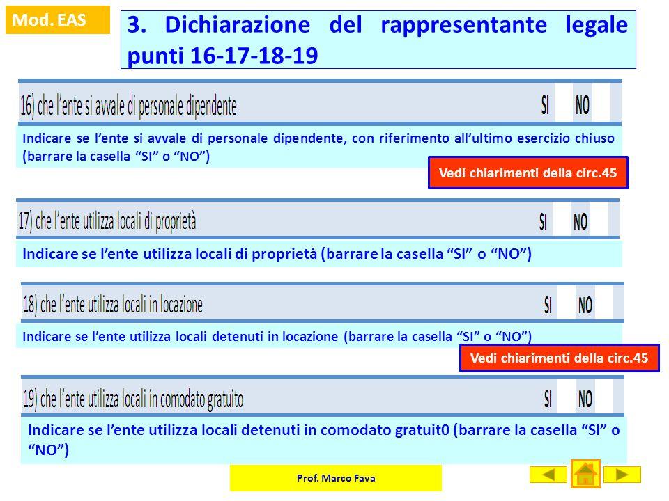 3. Dichiarazione del rappresentante legale punti 16-17-18-19